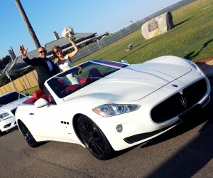 Conv. maserati wedding cars